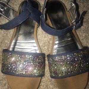 Nine West 🌻Blue sparkle sandals